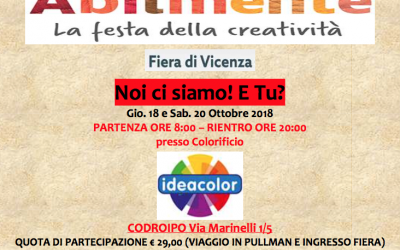 Vieni con noi ad ABILMENTE mostra atelier internazionale della manualità creativa!